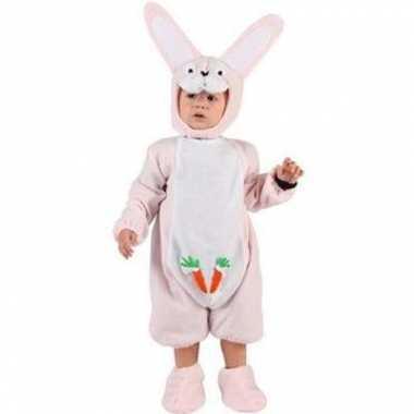 Baby kostuum roze konijntje carnaval