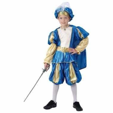 Blauwe oosterse prins kostuum jongens carnaval