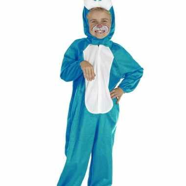 Blauwe paashaas kinder kostuum carnaval