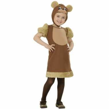 Bruine beren kostuum meisjes carnaval