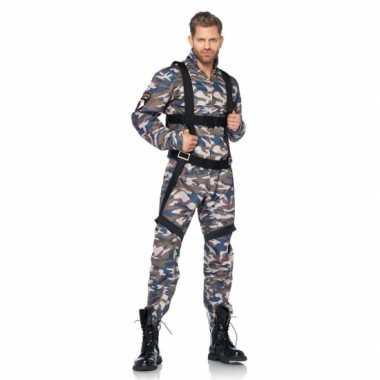 Camouflage parachutist kostuum carnaval