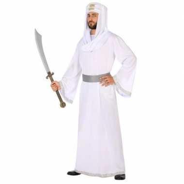 Carnaval/feest arabische strijder/prins hassan verkleedkostuum wit/z