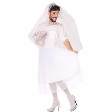 Carnaval/feest fun bruid verkleed kostuum heren