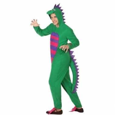 Carnaval/feest groene draak verkleed kostuum volwassenen
