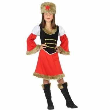 Carnaval/feest russische kozak verkleedkostuum meisjes