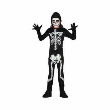 Carnavalskleding skelet kostuum kinderen