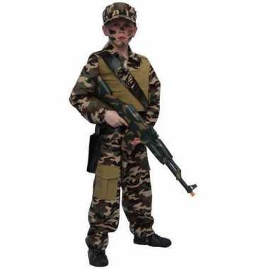 Carnavalskleding soldaat kostuum kind