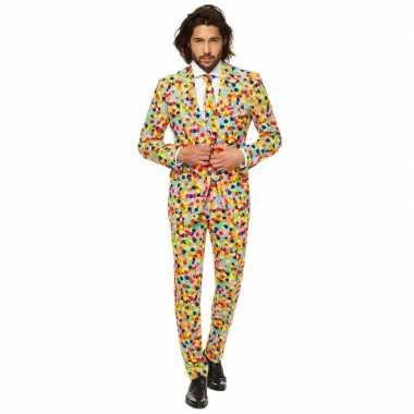 Compleet kostuum confetti print carnaval