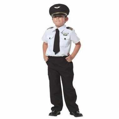 Complete piloten kostuum jongens carnaval