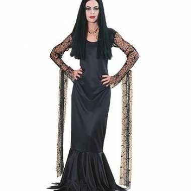 Dames Morticia kostuum jurk carnaval