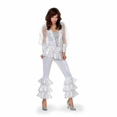 Disco kostuum dames wit carnaval