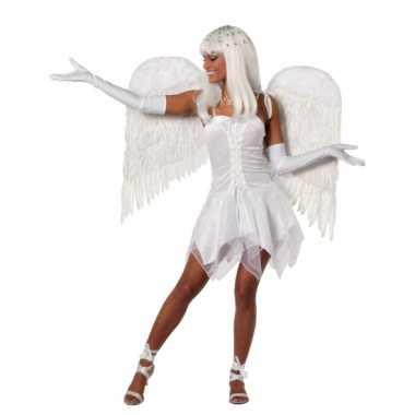 Fee kostuum jurkje wit dames carnaval