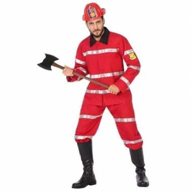 Feest/carnaval brandweermannen verkleedkostuum heren