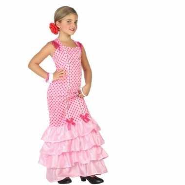 Flamenco kostuum jurk roze polkadots carnaval