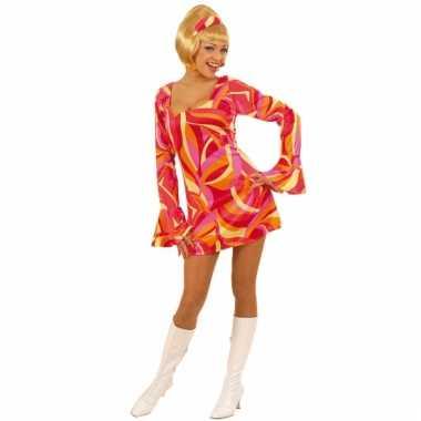 Flower power kostuum jurkje dames carnaval