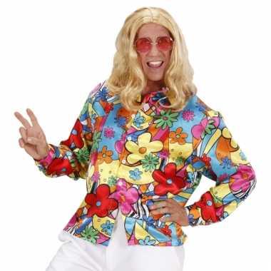 Gekleurde bloemen kostuum carnaval