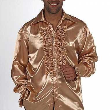 Gouden rouches kostuum heren carnaval