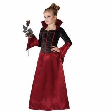 Gravin dracula kostuum jurk meisjes zwart carnaval