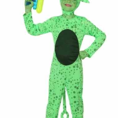 Groen alien kostuum kinderen carnaval