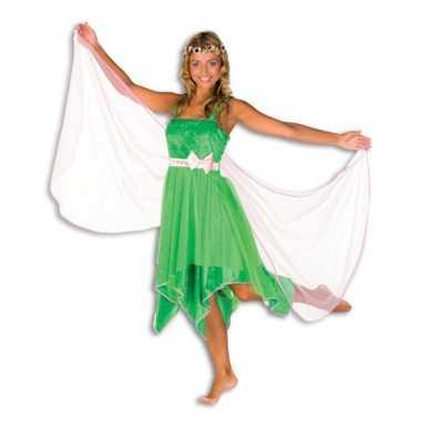 Groene elfen kostuum jurk dames carnaval