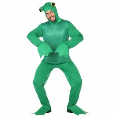 Groene kikker verkleedkostuum volwassenen carnaval