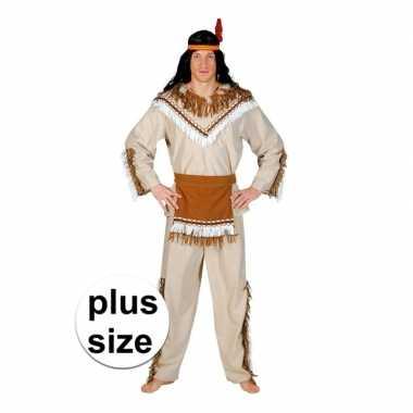 Grote maat indiaan adahy carnaval kostuum heren