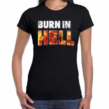 Halloween burn hell verkleed t kostuum zwart dames carnaval