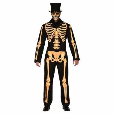 Halloween kostuum geraamte heren carnaval