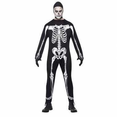 Halloween skelet kostuum volwassenen carnaval