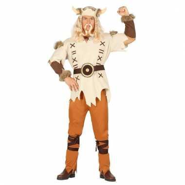 Heren vikings kostuum bruin delig carnaval