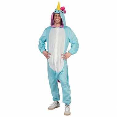 Huiskostuum blauwe eenhoorn heren carnaval