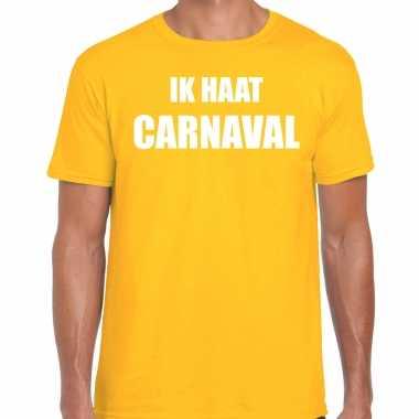 Ik haat carnaval verkleed t kostuum / kostuum geel heren