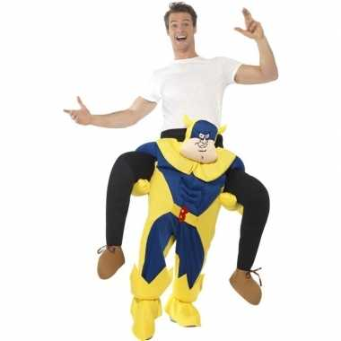Instapkostuum bananaman volwassenen carnaval