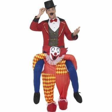 Instapkostuum circus clown volwassenen carnaval