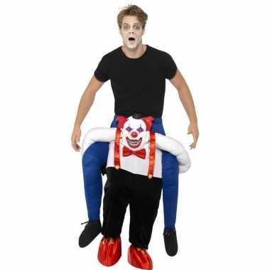 Instapkostuum enge halloween clown volwassenen carnaval