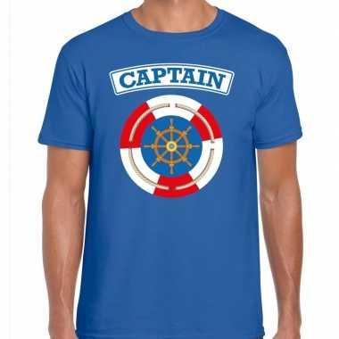 Kapitein/captain verkleed t kostuum blauw heren carnaval