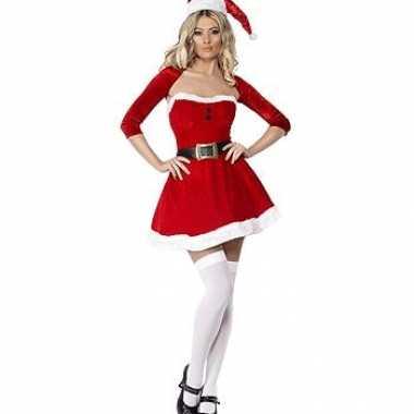 Kerst kostuum jurk bolero carnaval