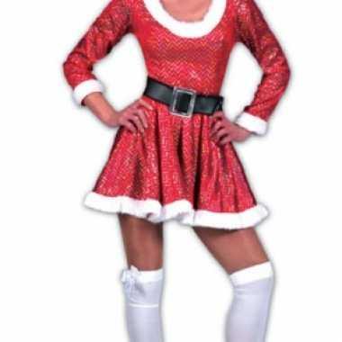 Fee Kostuum Dames.Kerst Kostuum Jurk Glitters Dames Carnaval