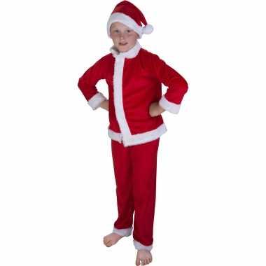 Kerstman verkleed kostuum muts kinderen carnaval
