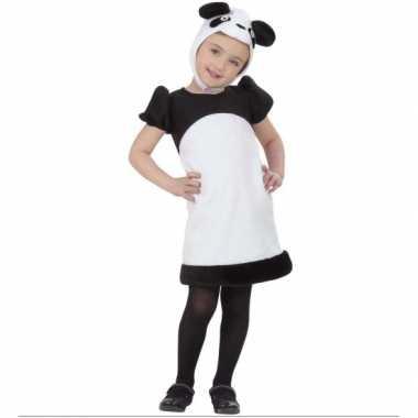 Kleuter panda kostuum jurkje carnaval