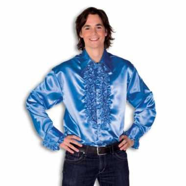 Kostuum blauw rouches heren carnaval