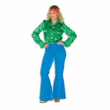 Kostuum  Blauwe seventies broek dames carnaval