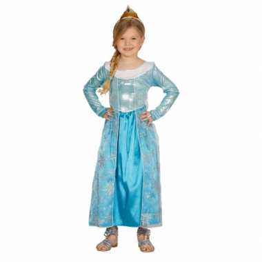 Kostuum  Blauwe verkleed prinsesjurk carnaval