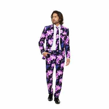 Kostuum business suit galaxy print carnaval