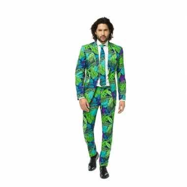 Kostuum business suit jungle print carnaval