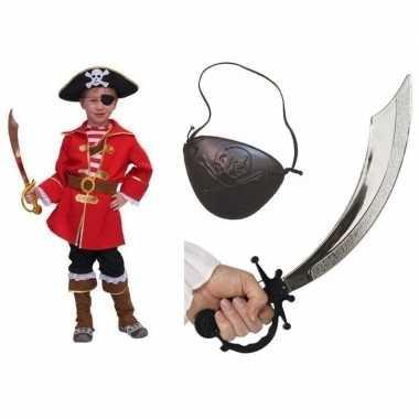 Kostuum carnavalskleding kapitein piraat kids