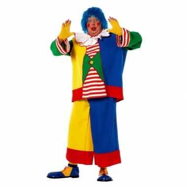 Kostuum  Clowns carnaval kleding heren een grote maat