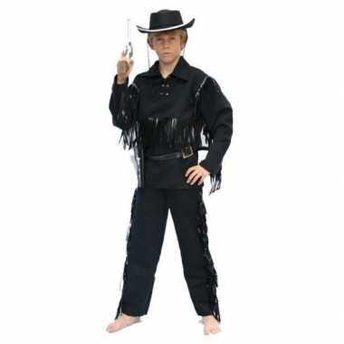 Kostuum cowboy kostuum zwart kids carnaval