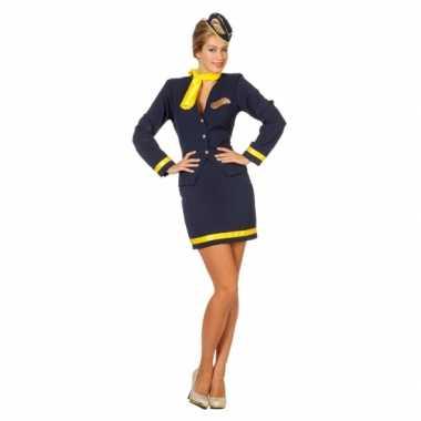 Kostuum  Dames Stewardess carnaval kleding
