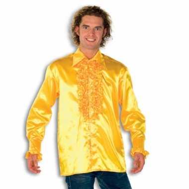 Kostuum geel rouches heren carnaval